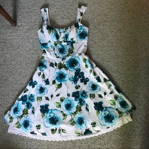 Vintage styled Floral Fit and Flare Dress